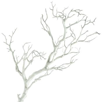Ветка искусственная белая