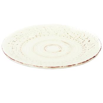 Тарелка керамическая белая