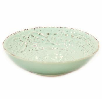 Миска керамическая голубая
