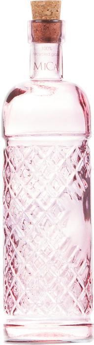 Бутылка стеклянная с пробкой Buana Pink №34