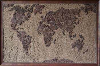 Пробковый стенд «Карта мира»