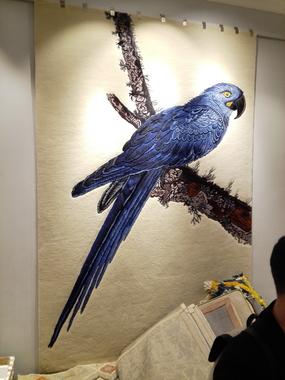Ковер «Синий попугай»