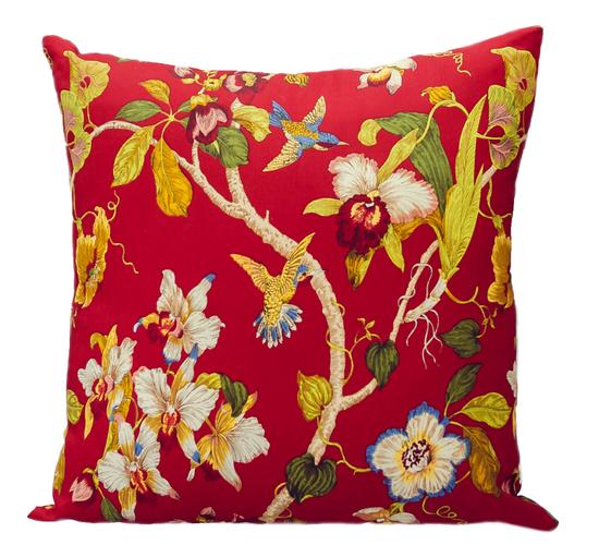 Подушка Red Flowers